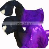 Chinese Silk Belly Dance Costume Fan Veils Bamboo Silk Fans Veils 1.8m Length