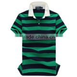 casual striped polo t shirt for mens, green and blue stripes polo t shirt, yarn dyed stripe mens polo shirts