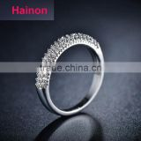 Top jewelry micro pave AAA zircon ring 925 sterling silver engagement ring