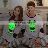 F70034S Hot summer with short sleeves suit men and women bear cartoon embroidered cotton pajamas