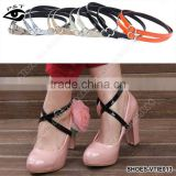 Removable Shoes Straps Detachable Shoe Strap Adjustable Leather Straps with Adjustable Buckle Shoes Accessories 12 Colors