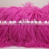 YR906 Cheap Wholesale Mongolian Lamb Fur Pillows