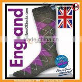 ladies cotton wool coolmax nylon argyle epaulet compression socks