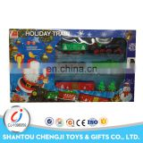 Hot sale electric slot toys lighting music christmas battery operated toy train
