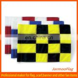 checkered nylon golf flag