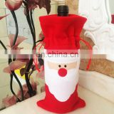 Santa Claus Christmas Red Wine Bottle Cover Bags