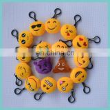 16 top selling embroidered plush emoji keychain