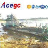 River digging equipment sand separating/gold collecting dredger machine