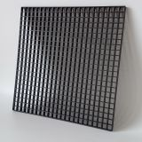 black plastic egg crate grille core