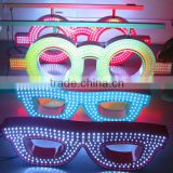LIYI Optpelectronics infrared remote control led optic sign for glasses shop/optic shop led neon glasses screen sign                                                                         Quality Choice