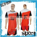 Original design custom soccer team wear black and red soccer jersey                                                                                                         Supplier's Choice