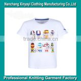 2015 OEM Stylish Child Clothing Boys' White T Shirts with 100% Organic Cotton for Kids Wear