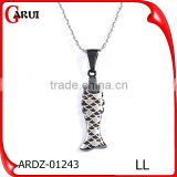 Charm black fish china supplier customized logo man pendant