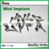 orthodontic mini dental micro implant manufacturing