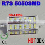 R7S 8W 118mm 36 5050 SMD led bulbs light energy saving lamp 85~265V replacement for Halogen Flood Lamp