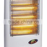 with remote control 0.5-7.5 hours timer wide angle oscillation function electric 3 heats halogen heater 1200W for homes