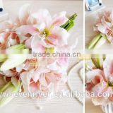 The new simulation PU flower feel the lilies Flower art furnishing articles home marry bridal chamber table flower decoration
