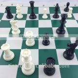 factory price for chess pieces/ good material fro chess pieces/ black and white chess pieces with plastic
