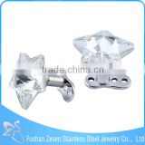Implant G23 titanium body piercing star crystal microdermal anchor jewelry