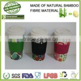 high quality custom bamboo fiber creative keep coffee cup, water cup,eco mug