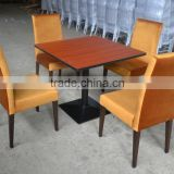 Fast food restaurant wooden table and chair XYN207