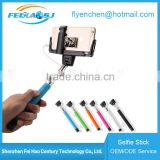 hot selling colorful selfie stick without charging monopod selfie stick instructions D09
