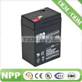 Storage Rechargeable AGM UPS Solar VRLA Battery 6V5AH,Maintenance Free Sealed Lead Acid Battery