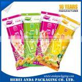 Printed frozen popsicle plastic bag/ ice lolly packaging plastic rolls/ ice lolly wrapper film