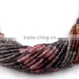 "1 Strands Natural Multi Spinel Micro Faceted Rondelle Gemstone 3-3.5mm Loose Beads,Necklace Making Gemstone 12.5"" Long"
