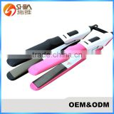 Low price and constant temperature rolling teflon coating hair straightener plate flat irons 099