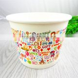 16oz Disposable Custom Printed Frozen Yogurt & Ice Cream Paper Cup, Paper Bowls , ice ream containers