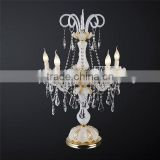 Fancy antique glass candelabra