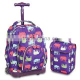 Kids' Rolling trolley Backpack with Lunch Bag