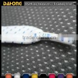 color dots jacquard flat cotton drawstring cord with custom logo plastic end                                                                         Quality Choice