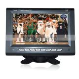 7 inch ISDB digital tv hot sex video player for USA with SD/USB car headrest monitor