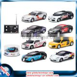 1:43 diecast model alloy car, 27Mhz/40Mhz mini rc racing car with remote control, 8 designs for selection