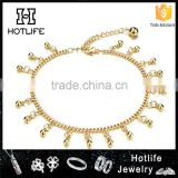 Wholesale fashion style new design gold beaded anklet hot sell