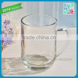 Glass coffee mug with handle clear glass tea cups drinking safe glass handle mug tumbler