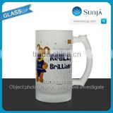 SH141 Frosty beer cup mug with logo Really Brilliant gift frosty beer mug with logo handle glass beer mug cups