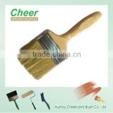 white bristle with wooden handle paint brush