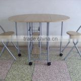 Dining room set couple table set batterfly breakfast metal dining table and chairs set with MDF panel type