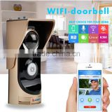 Smart home aumation kits wi fi ring video doorbell with wifi doorbell camera wireless intercom on android mobile phone