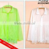2014 fashion Sun Clothing Beach Protection clothing UV sunscreen shirt women sexy summer dress