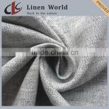 New Design Melange Yarn Woven Yarn Dyed Linen Fabric For Garment