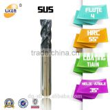 Liken High Quality End Mill Cutter, Solid Carbide CNC Drill Bit, Carbide Twist Drill, Tungsten Carbide Cutter end mill