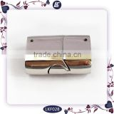 Wholesale Buckle Fit Flat Leather Bracelet Clasp 316L Stainless Steel Magnetic Clasp Jewelry Clasp