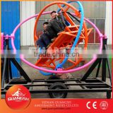 Hott ! popular sale for foreign markets, portable amusement gyro ball ride with trailer