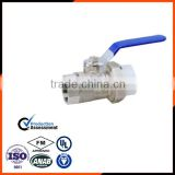 Hot sell female & male thread brass ball valve with ppr union made in china