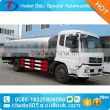 Competitive Price Dongfeng 5000 liter capacity steel milk tank truck for sale truck for milk