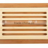 Bamboo Bread Cutting Board with Crumb Catcher 14.5 x 9.4 x 1.3inch eco-friendly bamboo bread slicer